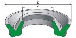 Манжета ущільнювач гумова V- образного перерізу для гідравлічних облаштувань
