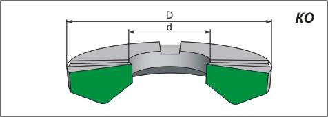 Манжета шевронная резинотканевая для гидравлических устройств, КО, ГОСТ 22704