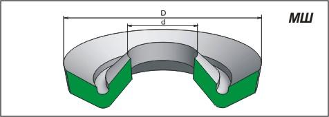 Манжета шевронная резинотканевая для гидравлических устройств, МШ, ГОСТ 22704