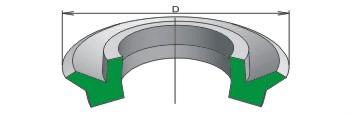 Манжета уплотнительная для пневматических устройств, Тип 1