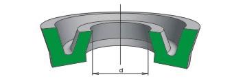 Манжета уплотнительная для пневматических устройств, Тип 2