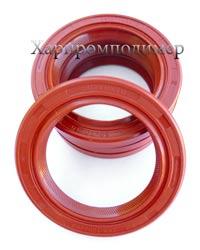 Манжета 2.2-50х70х10, колір - червоний, гума підвищеної оливобензостійкості