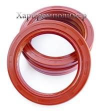 Манжета 2.2-75х100-10 (червоний), реверсна спеціальна насічка для видалення оливи