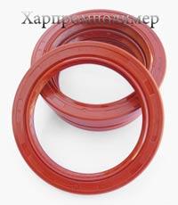 Манжета 2.2-80х105-10 (червоний), реверсна спеціальна насічка для видалення оливи