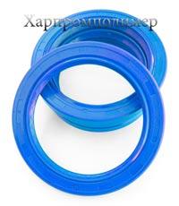 Манжета 2.2-80х105-10 (блакитний), реверсна спеціальна насічка для видалення оливи